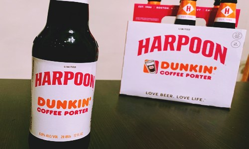 dunkin harpoon brewery coffee flavored beer