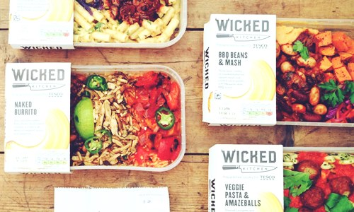tesco vegan food range wicked kitchen products