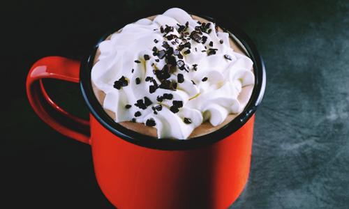 Starbucks' Black and White latte